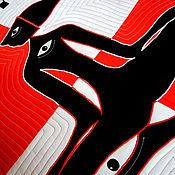 """Картины и панно ручной работы. Ярмарка Мастеров - ручная работа лоскутное панно с аппликациями """"ЧУЖОЙ"""" серия OCULUS III пэчворк панно. Handmade."""