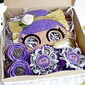 Резинка для волос ручной работы. Ярмарка Мастеров - ручная работа Набор бантиков Лол + маска Лол. Handmade.