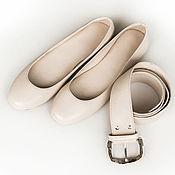 Обувь ручной работы. Ярмарка Мастеров - ручная работа Балетки из натуральной кожи. Handmade.