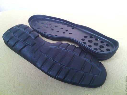 """Валяние ручной работы. Ярмарка Мастеров - ручная работа. Купить Подошва для обуви """"PLAZA"""". Handmade. Черный, подошва для ботинок"""