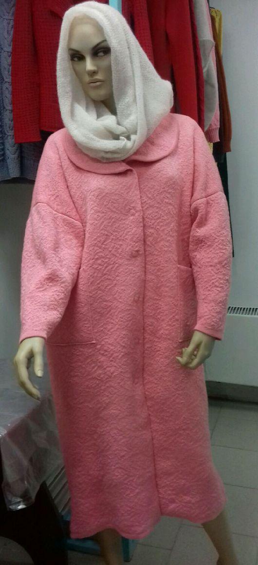 Верхняя одежда ручной работы. Ярмарка Мастеров - ручная работа. Купить Вязаное пальто. Handmade. Пальто женское, вязание на машине