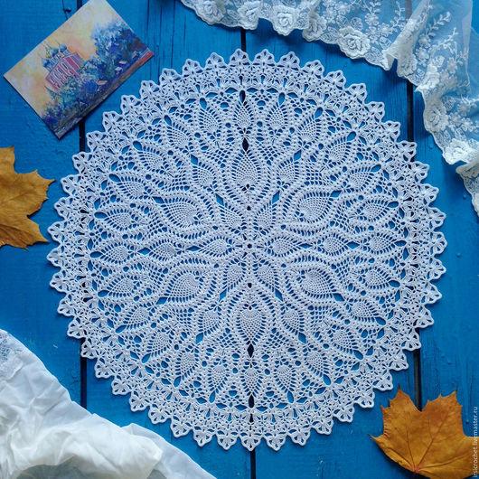 Текстиль, ковры ручной работы. Ярмарка Мастеров - ручная работа. Купить Салфетка крючком белого цвета(1). Handmade. Белый, подарок