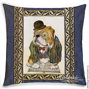 Картины и панно handmade. Livemaster - original item Cushion batik