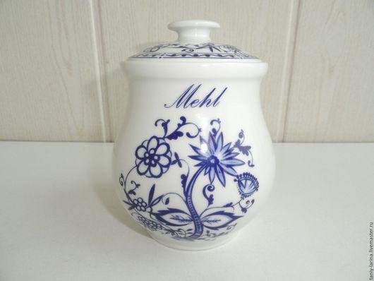 Винтажная посуда. Ярмарка Мастеров - ручная работа. Купить Банка для сыпучих продуктов, специй. Handmade. Сине-белый, посуда из керамики