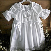 Работы для детей, ручной работы. Ярмарка Мастеров - ручная работа крестильное платье МИРОСЛАВА. Handmade.