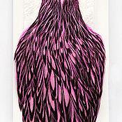 Перья ручной работы. Ярмарка Мастеров - ручная работа Перья American Hen Cape BLW/Pink (42801353). Handmade.