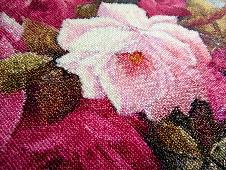 Готовые работы вышивки крестом розы