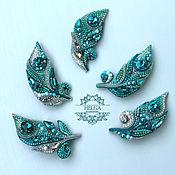 Украшения handmade. Livemaster - original item Brooch-pin: Feather bird of happiness. Handmade.