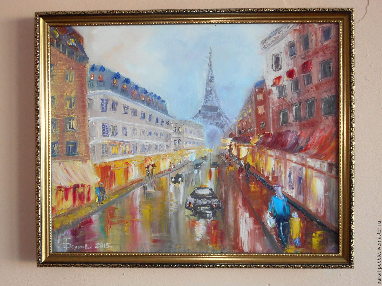 Картина Дождливый Париж – заказать на Ярмарке Мастеров ...  Дождливый Город Картина