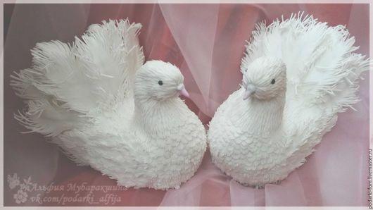 Свадебные аксессуары ручной работы. Ярмарка Мастеров - ручная работа. Купить Белые голуби. Handmade. Голуби, украшение на свадьбу, фоамиран