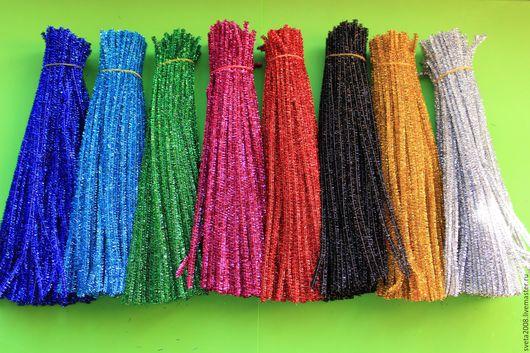 Другие виды рукоделия ручной работы. Ярмарка Мастеров - ручная работа. Купить Проволока синельная металлизированная 8 расцветок. Handmade.