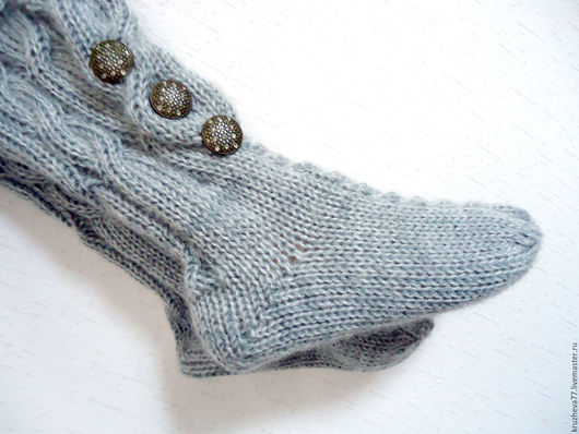 Носки, Чулки ручной работы. Ярмарка Мастеров - ручная работа. Купить Носочки теплые в две нити 37-39 размер.. Handmade.