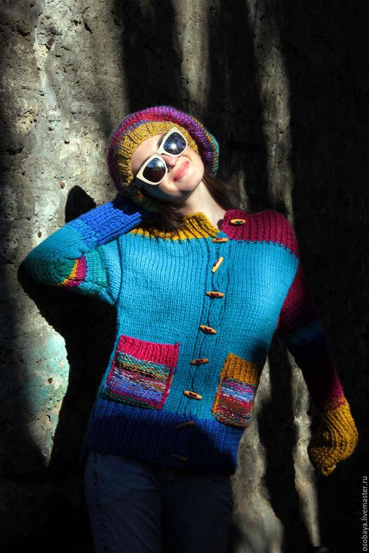 Кофты и свитера ручной работы. Ярмарка Мастеров - ручная работа. Купить солнцеед. Handmade. Кофта женская, вязайн, шерсть