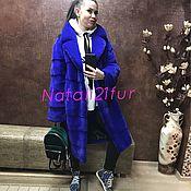 """Одежда ручной работы. Ярмарка Мастеров - ручная работа Шуба норковая Nafa """"Синий Кокон"""". Handmade."""