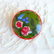 """Русский стиль ручной работы. Ярмарка Мастеров - ручная работа Брошь """"Вологодские розы"""". Handmade."""