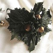 Украшения handmade. Livemaster - original item jewelry made of leather. Womens leather green bracelet THREE wishes. Handmade.