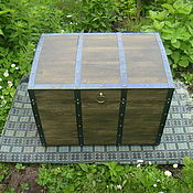 Для дома и интерьера ручной работы. Ярмарка Мастеров - ручная работа Сундук из массива дуба окованный. Handmade.
