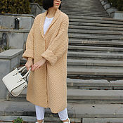 Одежда handmade. Livemaster - original item Women`s cardigan large viscous Caramel. Handmade.
