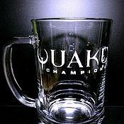 Кружки ручной работы. Ярмарка Мастеров - ручная работа Кружка для пива Quake Champions. Handmade.