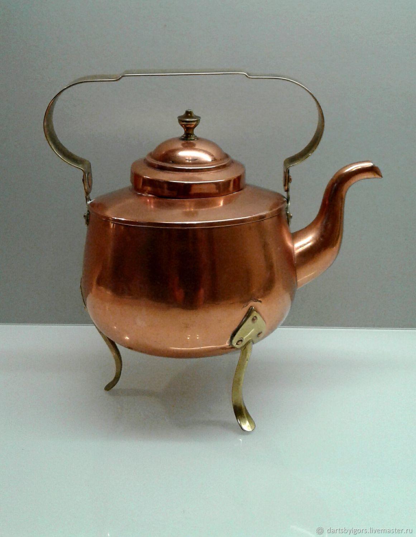 Винтаж: Медный чайник. Швеция, Винтажная кухонная утварь, Рига,  Фото №1