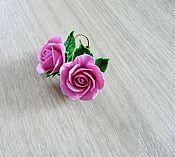 """Украшения ручной работы. Ярмарка Мастеров - ручная работа Серьги """"Розовые розы"""". Handmade."""