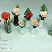 Куклы и игрушки handmade. Livemaster - original item puppet flowers: a rose in a vase. Handmade.