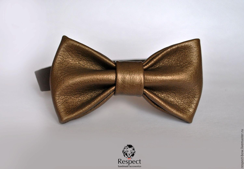 Tie Van Halen / bronze leather butterfly bow tie, Ties, Moscow,  Фото №1