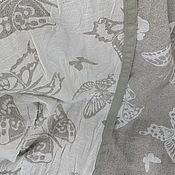 """Для дома и интерьера ручной работы. Ярмарка Мастеров - ручная работа Покрывало из льна """"Бабочки""""140х205см. Handmade."""