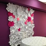 Свадебный салон ручной работы. Ярмарка Мастеров - ручная работа Цветочный задник молодоженов 3х2 метра. Handmade.