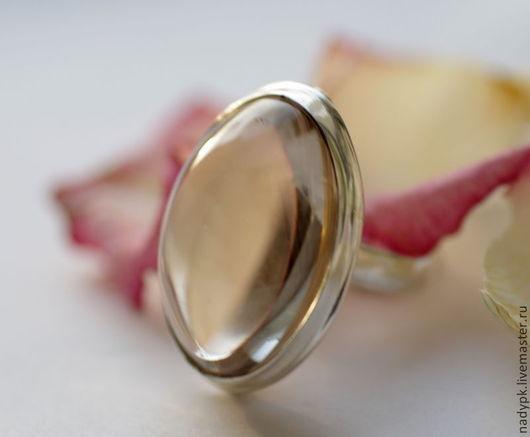 """Кольца ручной работы. Ярмарка Мастеров - ручная работа. Купить Кольцо с горным хрусталем  """"Прозрачное"""", серебро. Handmade. Горный хрусталь"""