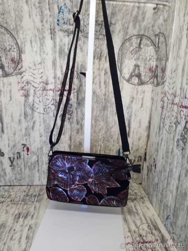 Bag natural suede, Crossbody bag, Zvenigorod,  Фото №1