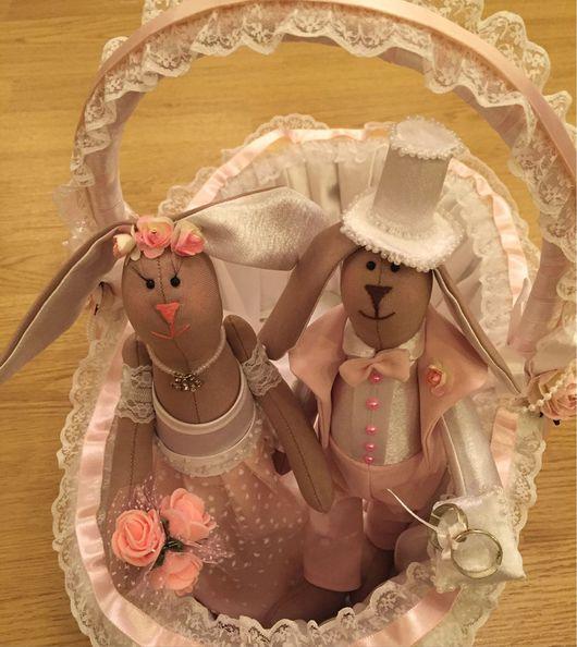 Подарки на свадьбу ручной работы. Ярмарка Мастеров - ручная работа. Купить Свадебные зайцы в стиле Тильда.. Handmade. Свадебные аксессуары