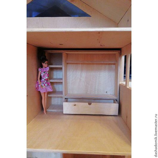"""Кукольный дом ручной работы. Ярмарка Мастеров - ручная работа. Купить Шкафчик для кукол """"Стелла"""". Handmade. Шкафчик, деревянный домик"""