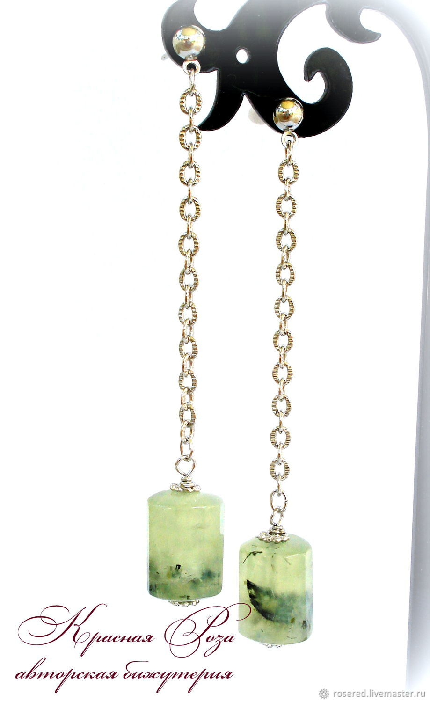 Prenite earrings on chains, Earrings, Stupino,  Фото №1