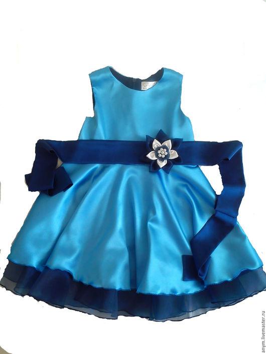 Одежда для девочек, ручной работы. Ярмарка Мастеров - ручная работа. Купить Платье для девочки. Handmade. Комбинированный, цветок ручной работы