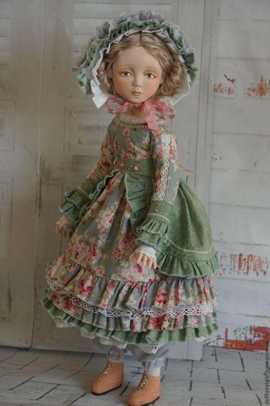 Коллекционные куклы ручной работы. Ярмарка Мастеров - ручная работа. Купить Марта. Handmade. Голубой, кукла ручной работы