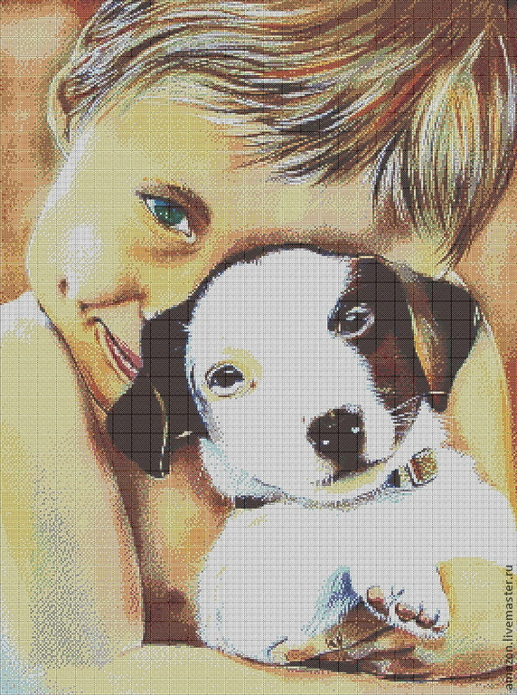 Kit embroidery with beads 'My friend'.picture Loginova Annet, Embroidery kits, Ufa,  Фото №1
