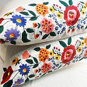 Для дома и интерьера handmade. Livemaster - original item Pillow case with embroidery,embroidered pillow case,cotton Euronaval,rustic. Handmade.