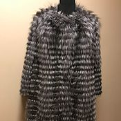 Одежда ручной работы. Ярмарка Мастеров - ручная работа Меховое пальто из чернобурки на трикотаже. Handmade.