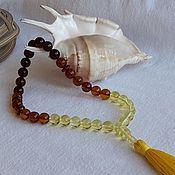 Rosary handmade. Livemaster - original item Muslim rosaries from Baltic amber, 26g. Handmade.