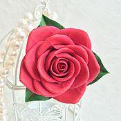 Украшения ручной работы. Ярмарка Мастеров - ручная работа Заколка-брошь Роза. Handmade.
