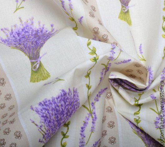 Ткань, хлопок, ткань для штор, прованский стиль, интерьерная ткань, Ярмарка мастеров.