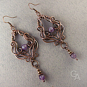 Украшения handmade. Livemaster - original item Earrings with amethyst