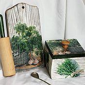 Для дома и интерьера handmade. Livemaster - original item Cutting board and box for bulk products. Handmade.
