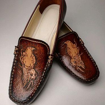 Обувь ручной работы. Ярмарка Мастеров - ручная работа Мокасины ручной работы из натуральной кожи. Handmade.