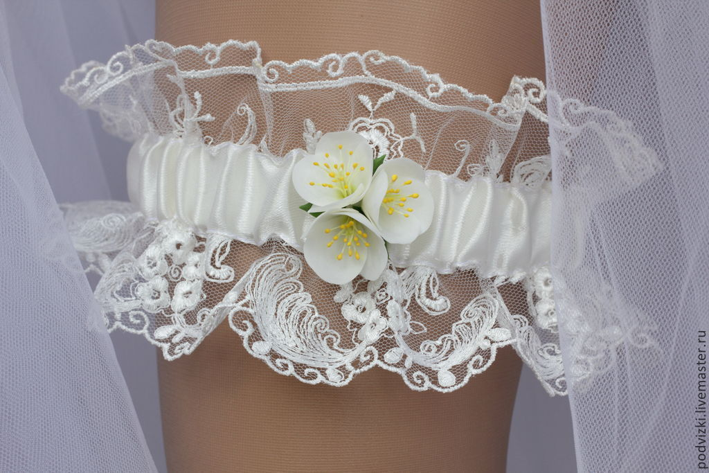 "Garter for the bride's wedding ""Breath of summer"", Garter, Moscow,  Фото №1"