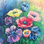 Картины и панно handmade. Livemaster - original item Picture,a painting in oils flowers. Handmade.