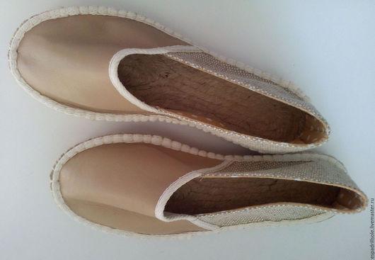Обувь ручной работы. Ярмарка Мастеров - ручная работа. Купить Эспадрильи на джутовой подошве (28 mm) Beige. Handmade. Бежевый