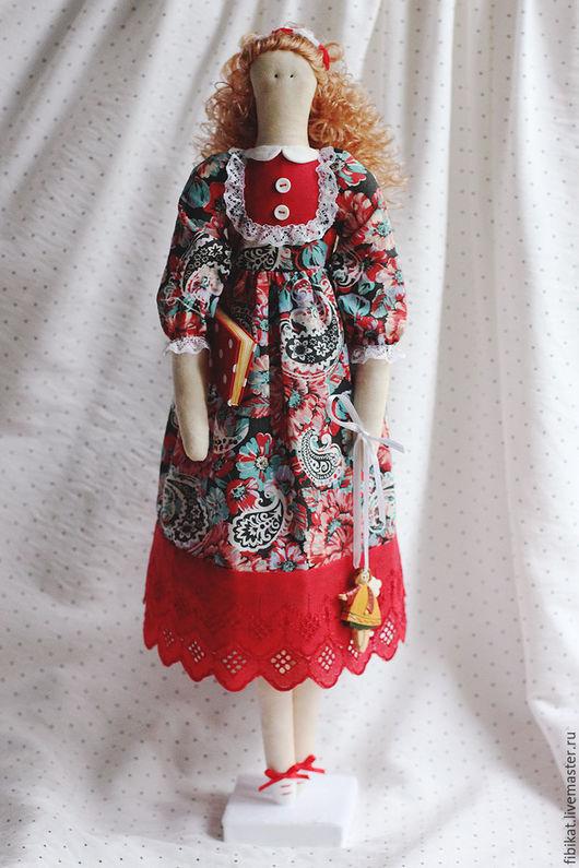 Куклы Тильды ручной работы. Ярмарка Мастеров - ручная работа. Купить Тильда с книжкой. Handmade. Тильда, кукла в подарок