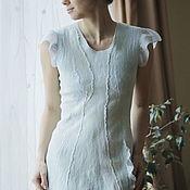 Одежда handmade. Livemaster - original item Felted dress Sky. Handmade.